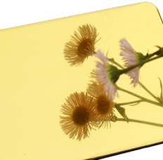 Golden Mirror aluminium composite panel ACP